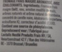 Kvarg Framboossmaak - Ingredientes - fr