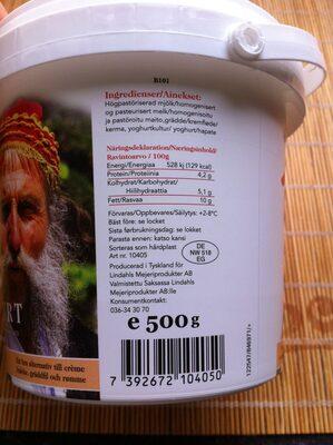 Naturell Yoghurt 10% fett - Informations nutritionnelles - sv