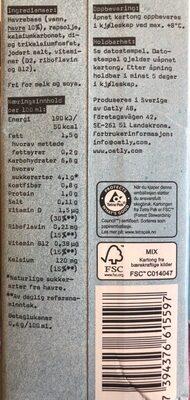 Havre drikk kalsium - Ingrédients - fr