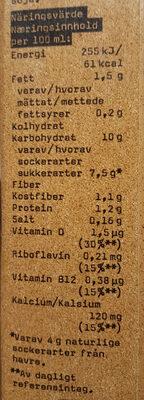 OATLY Havredryck choklad - Informations nutritionnelles - sv