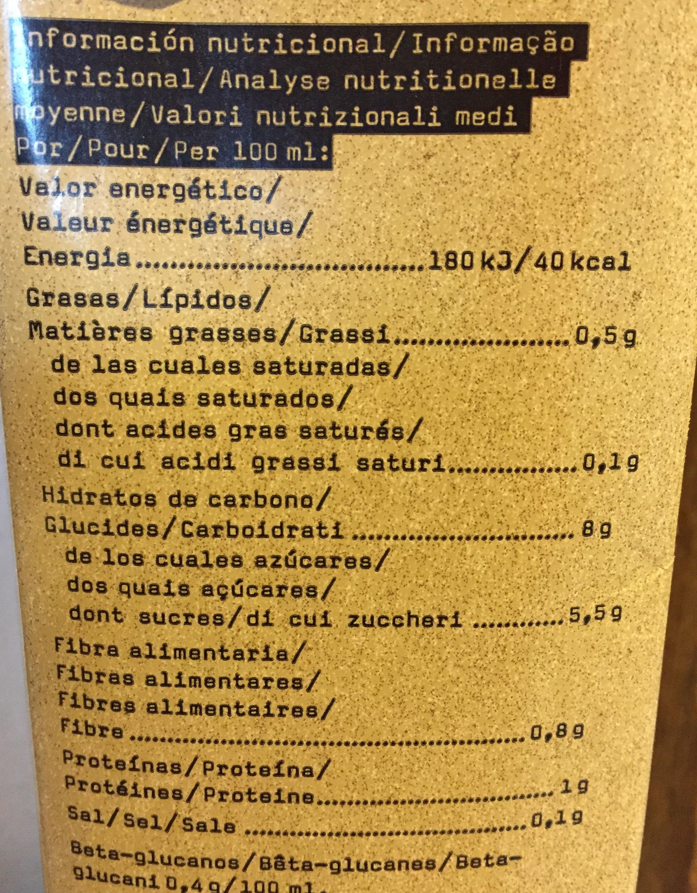 Lait Avoine Vanille Bio - Informations nutritionnelles - fr