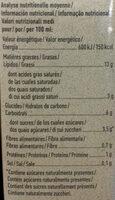 Avoine cuisine bio - Nutrition facts - fr
