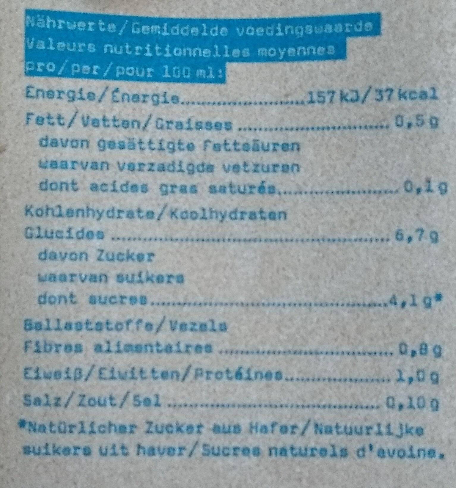 Oatly Haferdrink Original - Valori nutrizionali - de