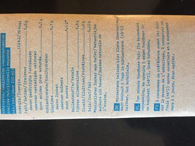 Oatly Haferdrink Original - Informations nutritionnelles - fr