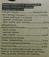 Oatly Haferdrink Vanille Bio - Voedingswaarden - de