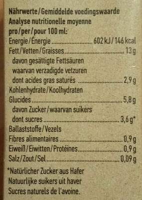 Hafer Cuisine - Nutrition facts - nl