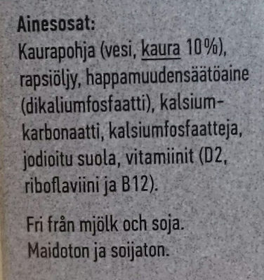 Oatly! ikaffe - Ainesosat - fi