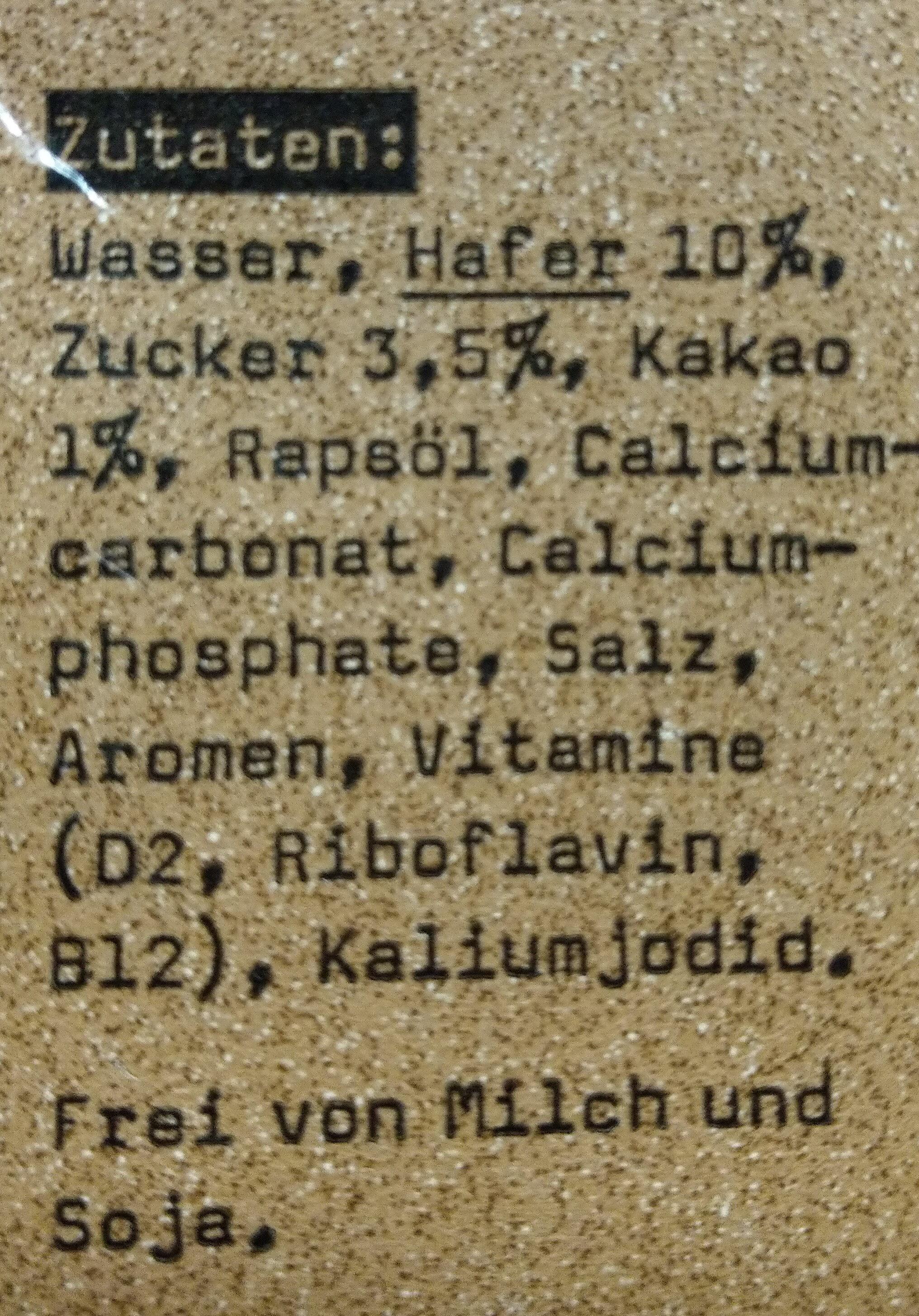 Hafer Avoine Cacao - Ingredients - fr