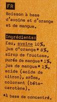 Haferdrink Orange Mango - Ingredienti - fr