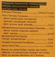 Haferdrink Orange Mango - Valori nutrizionali - fr