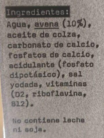 Avena barista edition - Ingrédients