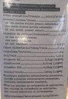Avena barista edition - Información nutricional