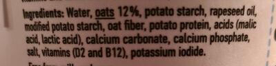 Oatgurt plain - Ingredients
