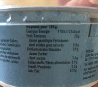 Cremiger Haferaufstrich - Nutrition facts - de