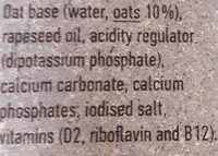 The Original Oat-ly Oat Drink Whole - Ingredientes - en