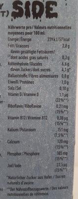 The Original Oatly Hafer deluxe - Informations nutritionnelles - de