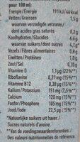 Oatly haver drink halfvol - Nutrition facts - nl