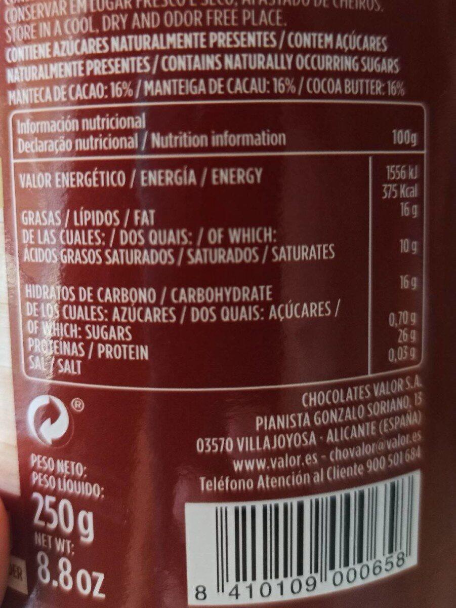 Cacao puro 0% - Voedingswaarden - es