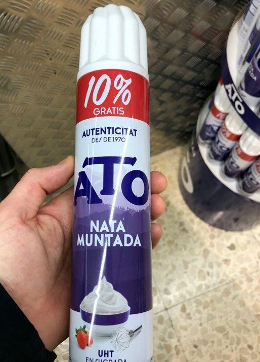 Nata muntada - Producto