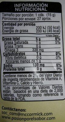 Mayonesa - Voedingswaarden - fr