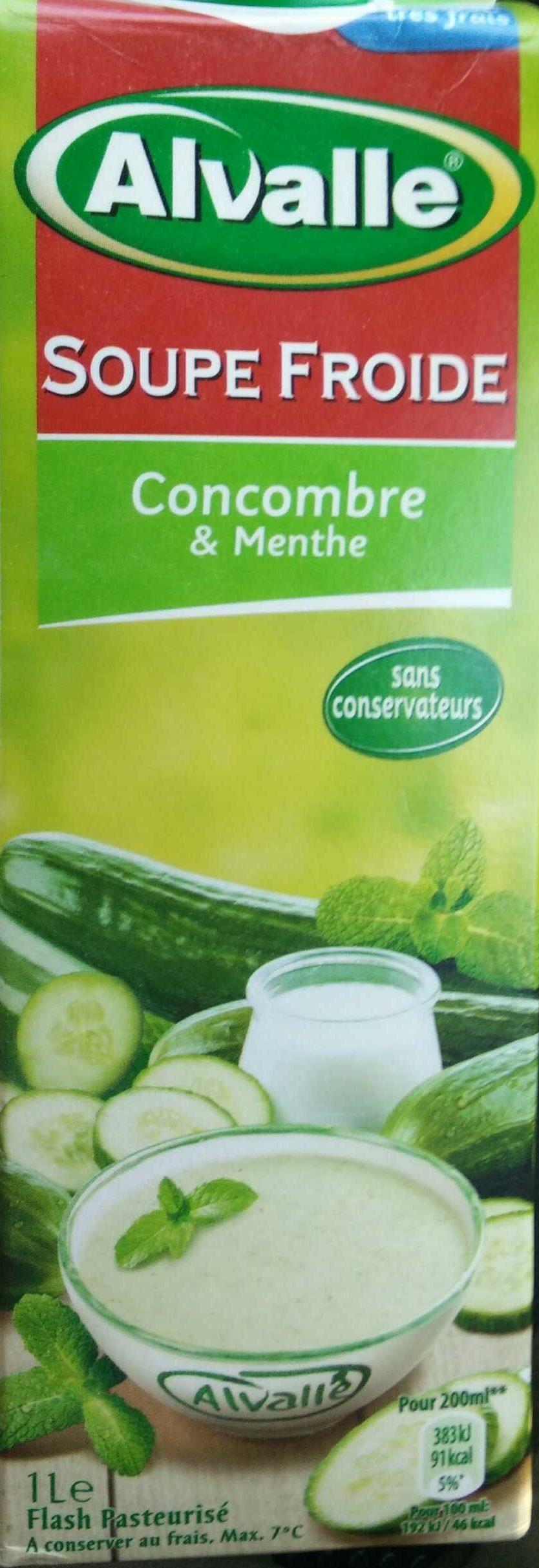 Soupe froide concombre et menthe - Produit