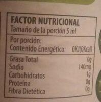 D' olancho, sauce, hot - Nutrition facts - en