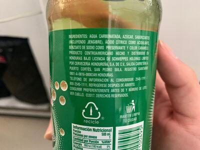 Canada dry - Ingredients - en