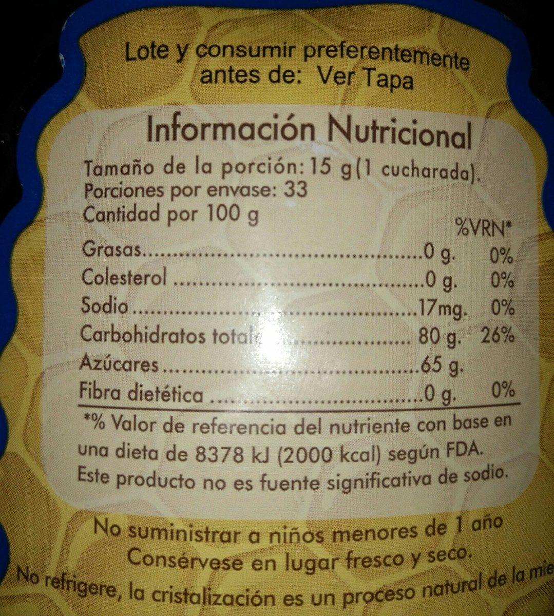 Miel de abeja pura - Ingrédients