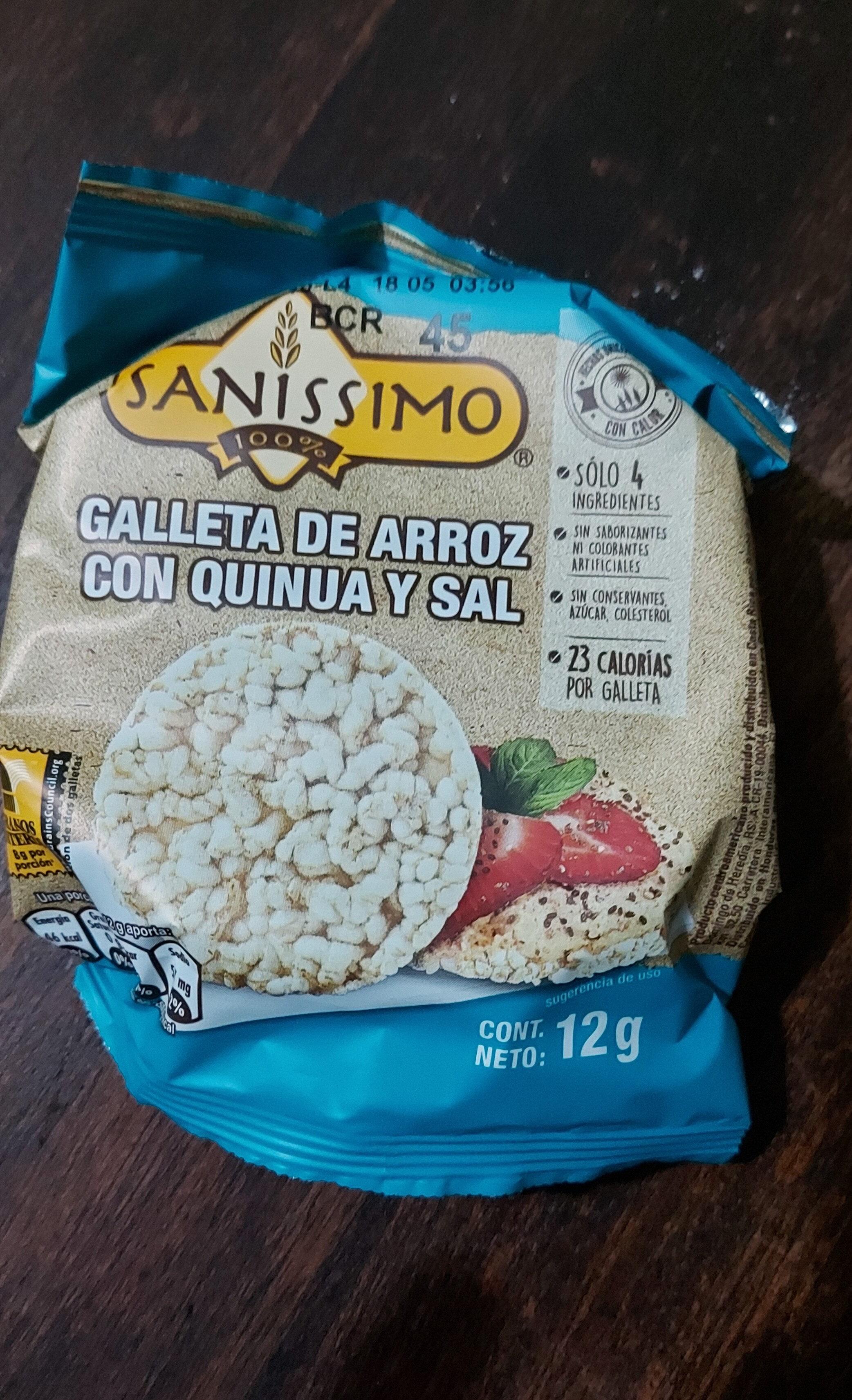 galleta de arroz con quinoa y sal - Product - es