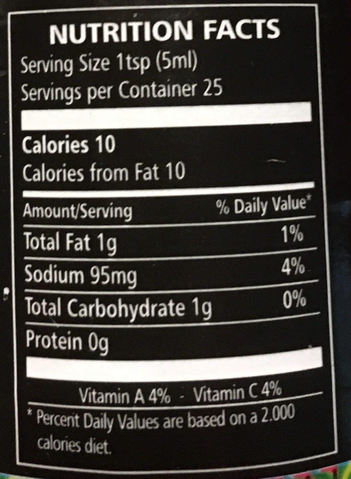 Pâte de piment Antillais - ho la la... ça pique - Nutrition facts