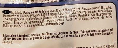 Cream Cookies Vanille - Ingredients