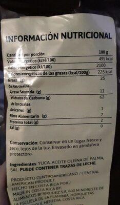 Yuquitas - Información nutricional - es