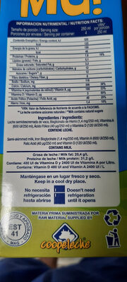 Leche Mú - Ingredients - es