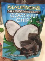 Dark chocolate coated coconut chips - Product - en