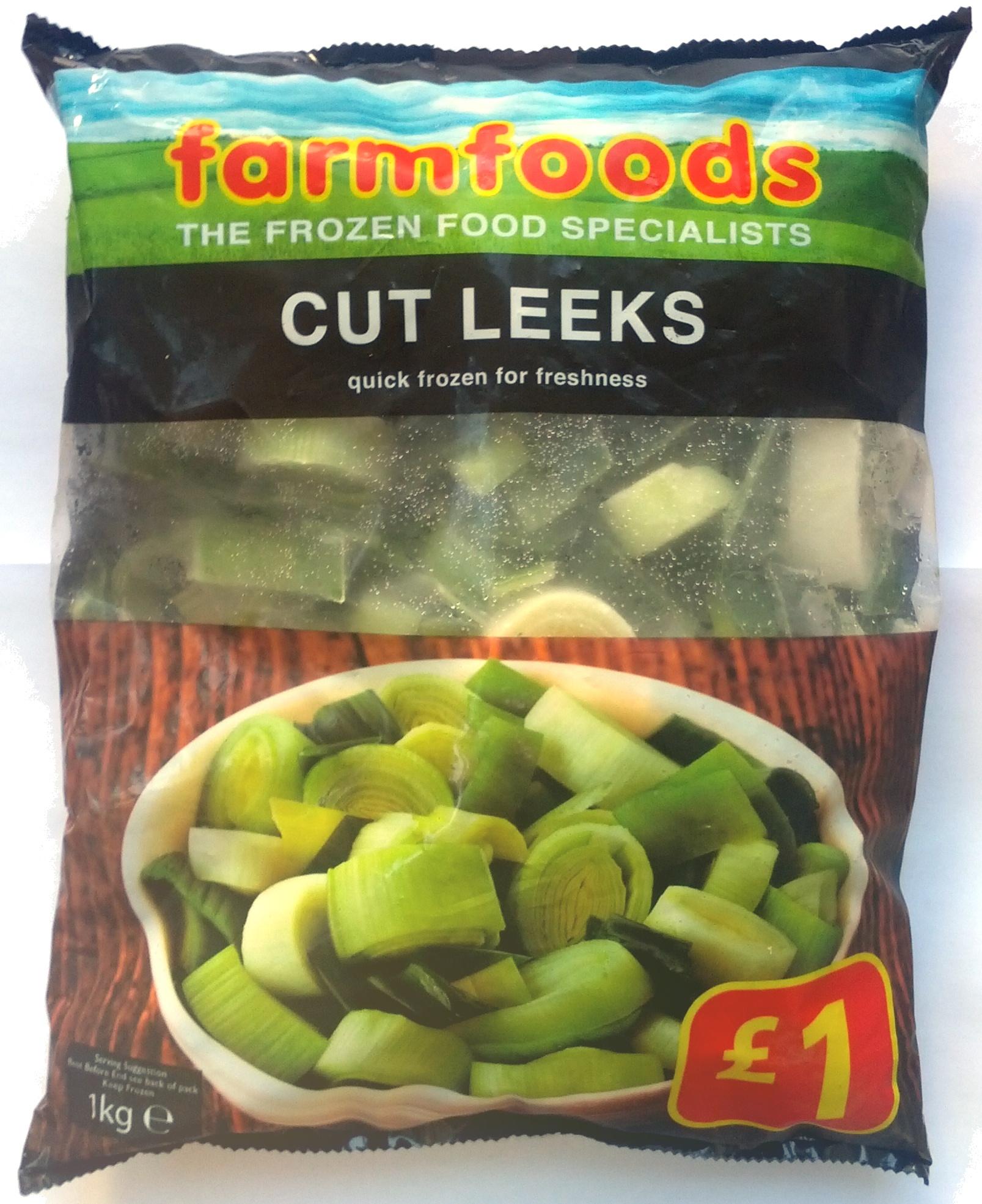 Cut Leeks quick frozen for freshness - Product - en
