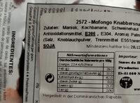 MoFongo Snax - Informations nutritionnelles - de