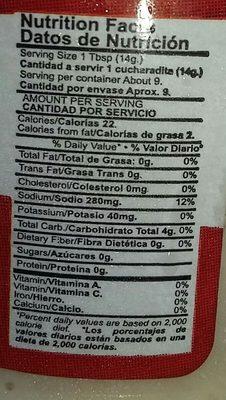 Constanza Ajo En Pasta - Informations nutritionnelles - fr