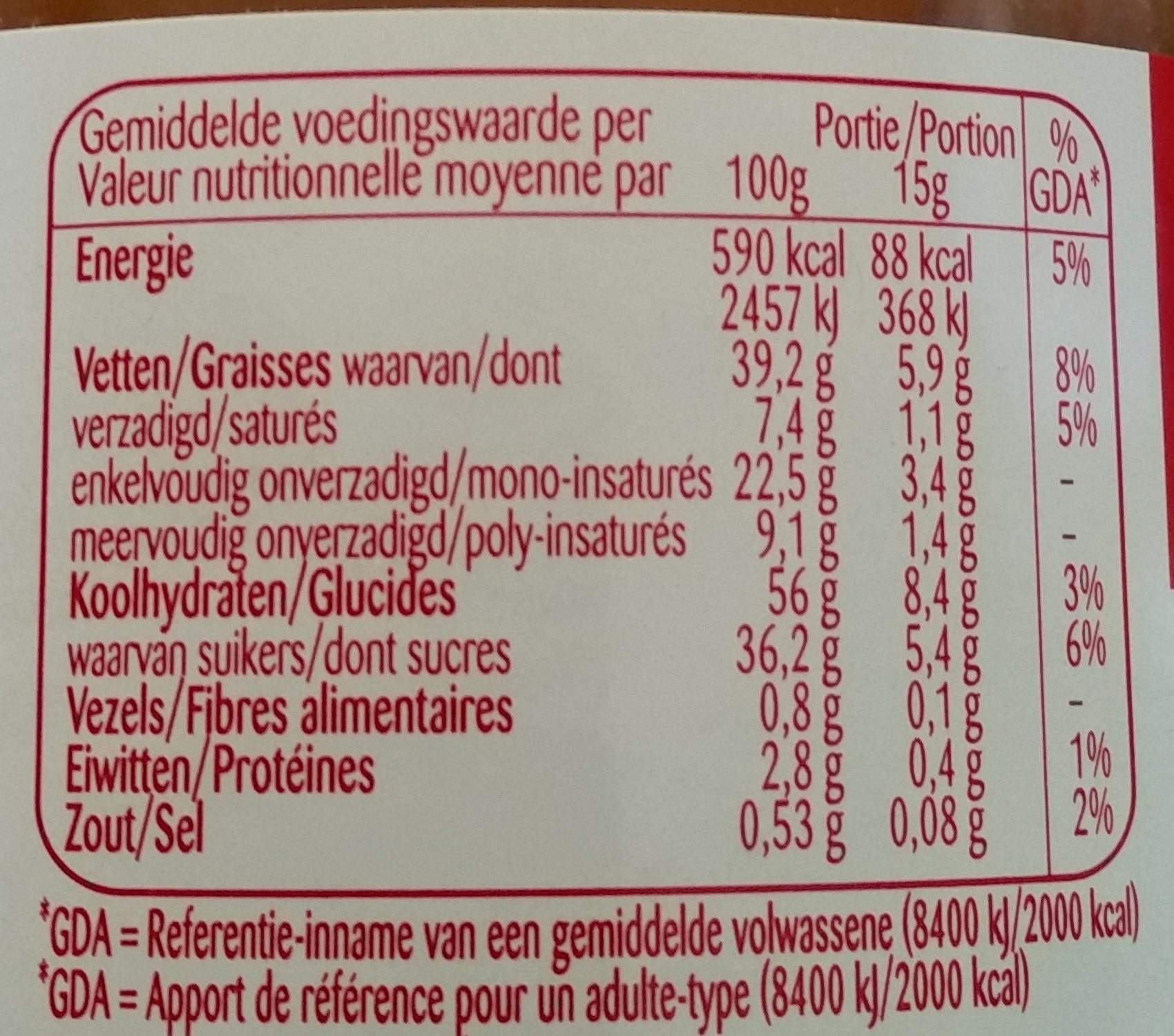 Original Speculoos à tartiner - Voedingswaarden