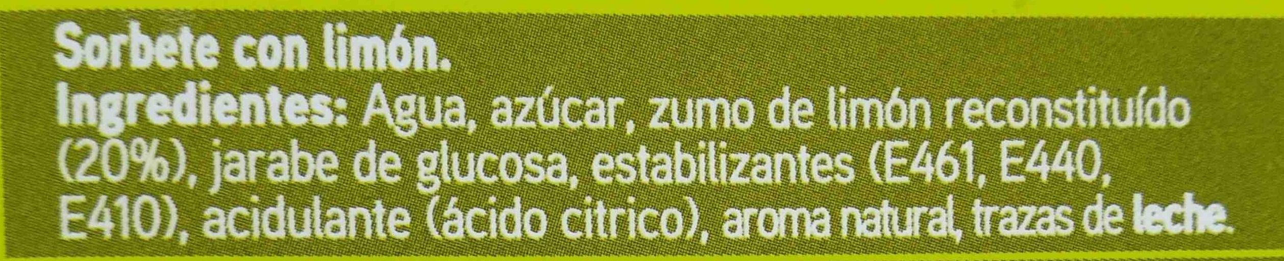 Sorbete de limon - Ingredientes - es