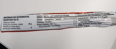 Galletas Marías - Nutrition facts - es
