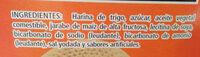 Galletas maria soriana - Ingredients - es