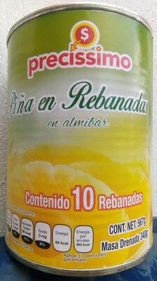 Piña en rebanadas en almíbar - Produit - es