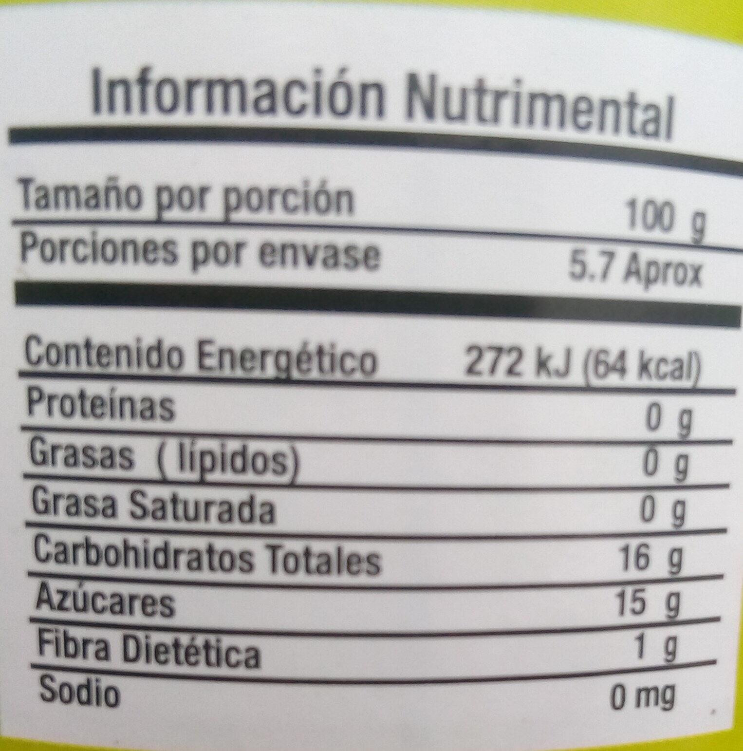 Piña en rebanadas en almíbar - Informations nutritionnelles - es