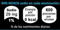 Sal Liquida Natural - Nutrition facts
