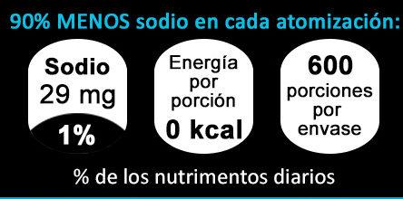 Sal Liquida Natural - Nutrition facts - es