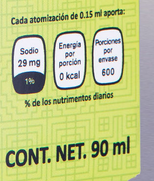 Sal Liquida Tequila - Nutrition facts