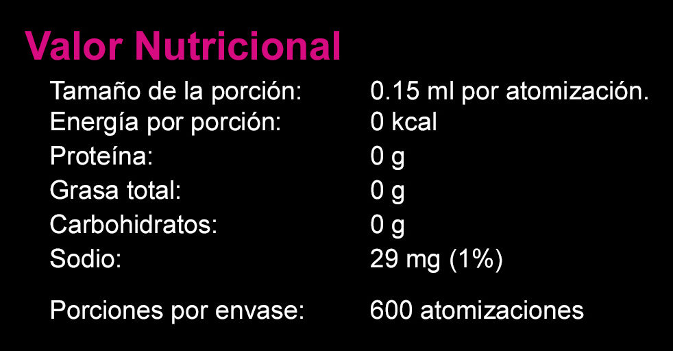 Sal Liquida Cacao - Nutrition facts