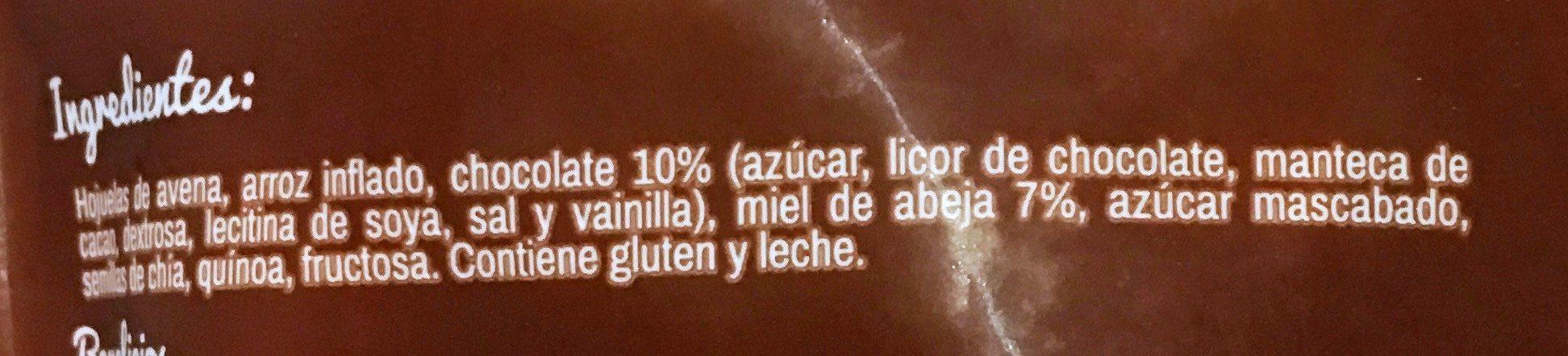 Natural company Granola - Ingrediënten - es