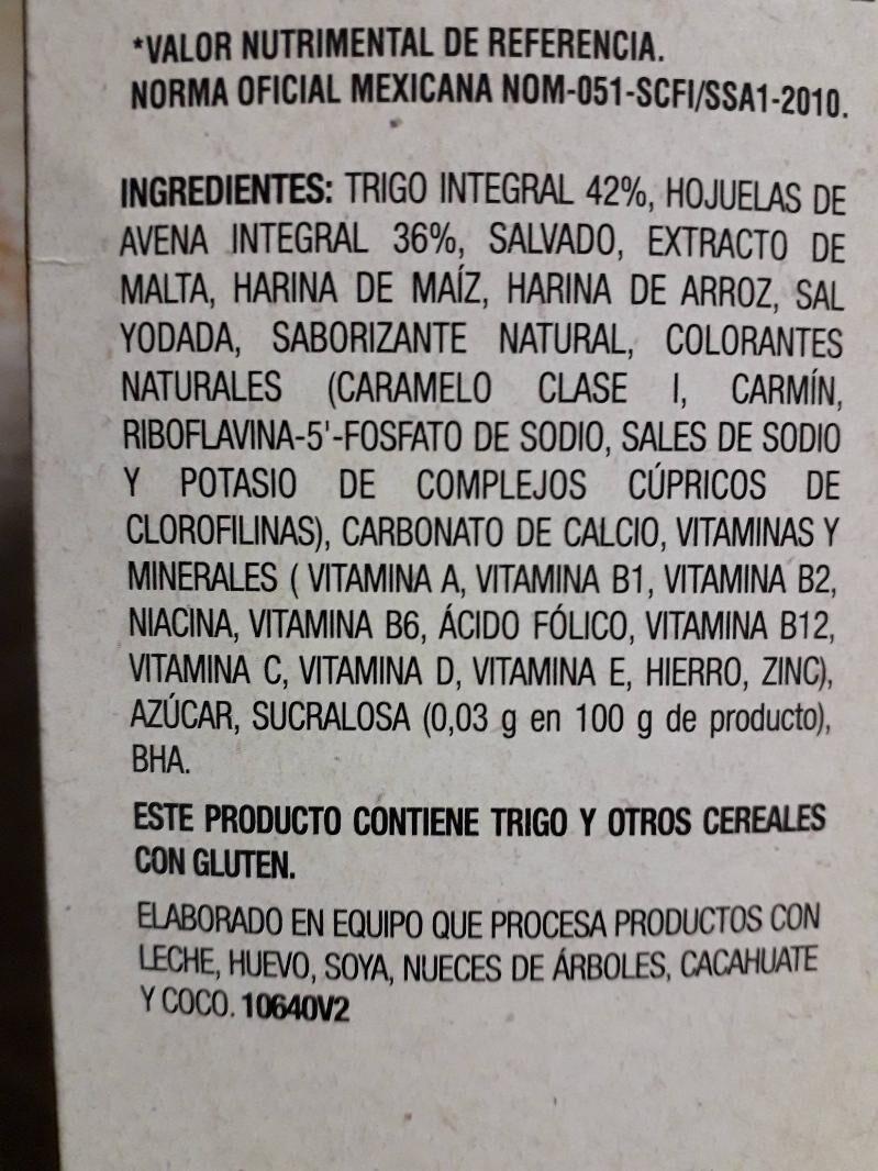 Multibran - Ingredientes - es
