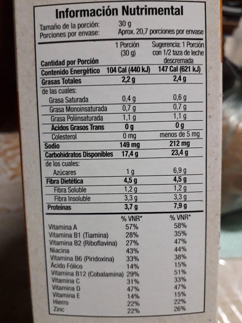 Multibran - Información nutricional - es